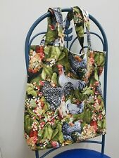 Hen Couture Chicken Tote Bag - Reversible Handmade Bag with Pocket Hen Rooster