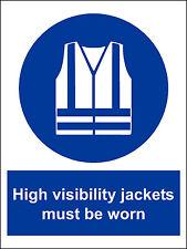 Safety Sign Hi Vis Jackets.300x400mm Construction Site