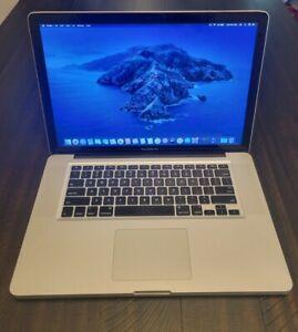 """Apple MacBook Pro A1286 15"""", 2012, i7-3720QM, 750GB HDD, 16GB Ram, Catalina"""