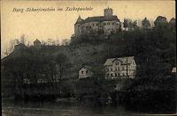 Burg Scharfenstein im Zschopautal Sachsen Ansichtskarte ~1910 Blick auf die Burg