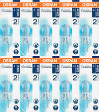 10x Osram Stiftsockellampe Halostar 64425 G4 12V 20W 320lm Halogenlampe EEK C