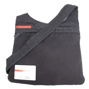PRADA SPORTS Shoulder Bag Triangle Logo Nylon Black