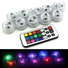 Remote Control LED Submersible Tea Candle Lights For Party Fish Tank Vase Decor
