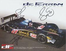 2009 de Ferran Motorsports Acura signed ALMS postcard de Ferran Dixon Pagenaud
