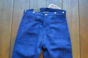 LVC 1890 501XX Jeans 2x1 Denim Levis Vintage Clothing Waist Overalls NWT W33 STF