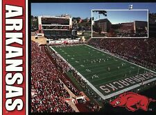 University of Arkansas Razorbacks Football, Fayetteville AR --- Stadium Postcard