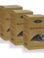 Antarctic Red Krill Oil 500mg 100 capsules x 3 bottles.  Australian Made
