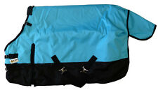 Pony Horse Turnout Blanket 1200D Rip Stop Water Proof Medium Weight Turquoise 50