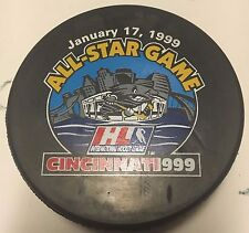 Vintage 1999 IHL All-Star Game Official Game Puck Cincinnati Cyclones