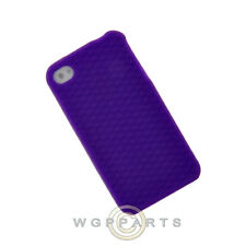 Apple iPhone 4/i4S Rubber Skin Case Purple Textured Case Cover Shell Guard