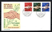 GUINEA ECUATORIAL  nº 1/3 SOBRE PRIMER DÍA DE CIRCULACIÓN F.D.C.