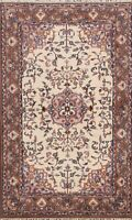 Floral Ivory Ardakan Traditional Oriental Hand-knotted Area Rug Wool Carpet 4x6