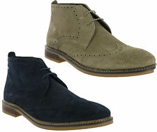 Base London Lace Up 100% Leather Boots for Men