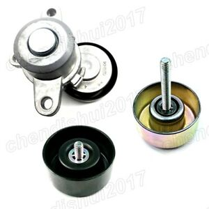3 Belt Tensioner Pulley +Belt Pulley For Nissan Altima Maxima Murano Teana 06-14