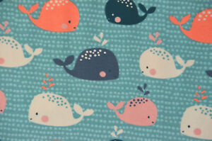Jersey Stoffonkel Babywal GOTS Baumwolle 50 x 165 cm Walfisch Wal