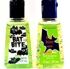 2 Rare * BAT BITE APPLE * Bath Body Works Halloween Pocketbac Hand Sanitizer Gel
