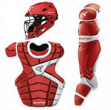 New Easton M10 Series Adult Baseball Catchers Complete Set Red/Silver
