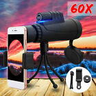 New 40x60 Zoom Monocular HD Telescope Telephoto Camera Lens+Phone