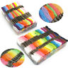 50/100 Cross Stitch Cotton Sewing Skeins Embroidery Thread Floss Mix Colors Kit