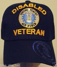 LICENSED DISABLED U.S. AIR FORCE USAF VETERAN VET DAV MILITARY INSIGNIA CAP HAT