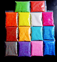 Fine Glitter Powder Fairy Pixie Dust Makeup Nail Art Crafts Body Hair Beard DIY