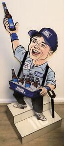 Bud Light NFL Cardboard Standing Display Phil The Beer Guy On Stadium Steps