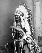 Native American Indian CHIEF LONE WOLF Glossy 8x10 Photo Kiowa Print Old West
