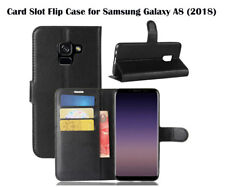 For Samsung Galaxy A8 (2018) Card Slot PU Leather Cover Wallet Case