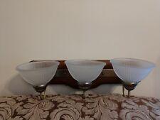 Vintage 3 Light Bath vanity Wall Sconce Minka Lavery 5663-11. Real Wood finish