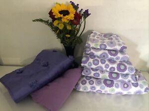 pottery barn teen full bedding purple lavender floral: duvet full set