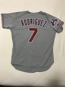 Authentic All Star Ivan Rodriguez Texas Rangers Russell Athletics Jersey Size 44