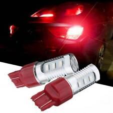 2x Red 7443 LED Flashing Strobe Blinking Rear Alert Safety Brake/Tail/Stop Light