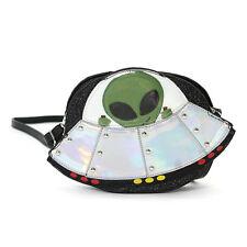 Alien on a Space Ship Shoulder Bag Cross Body Purse UFo