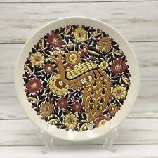 Vintage Keramikos Tassoulis Greece Plate Pheasant Retro Mcm