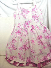 THE CHILDERN'S PLACE GIRL'S  SUNDRESS SIZE 6X /7 WHITE WITH INK ROSES