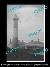 OLD LARGE HISTORIC PHOTO OF EDITHBURGH SOUTH AUSTRALIA, THE LIGHTHOUSE c1900