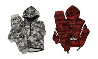 Boys Camouflage Tracksuit Zipped Top | Cuffed Ankle Bottom | 2 -5 Years