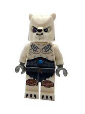 LEGO Oso Polar Guerrero LEGENDS OF CHIMA MINIFIGURA NUEVO loc119 MINIFIGURAS NEW