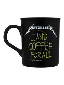 Metallica And Coffee For All Matt Black Mug