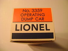 Lionel 3359 Operating Dump Car Licensed Reproduction Box