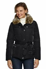 Women LandsEnd Winter Down Jacket Coat Parka Luxe X Large XL Black