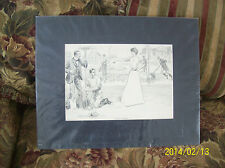 Love In A Garden Antique Print By Charles Dana Gibson Copywrite 1901