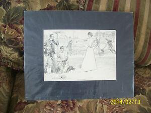 Love In A Garden Antique Print By Charles Dana Gibson Copywrite 1901