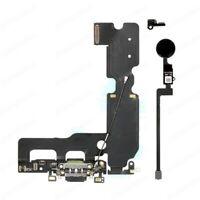 FLEX DOCK CARGA DATOS USB + BOTON HOME FLEX IPHONE 7 PLUS NEGRO