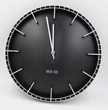 38cm Quarz Wanduhr leise Bahnhofuhr schwarz gross Wanduhr Elegant schwarz