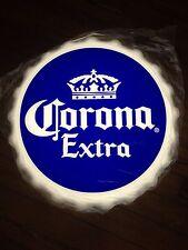 Corona Extra Beer Sign LED Lighted Bottle Cap Bar Pub Beach Tiki Man Cave