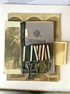 MEDAL GERMAN WW1 MEDAL GROUP & PAPERWORK & PHOTOS 1R161 JOHANN SCHRODER