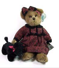 "Bearington Bears Gigi & Fifi 14"" Teddy & Black Poodle Plush #1521 Retired Tags"