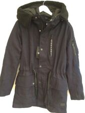Zara Navy Hooded Long Winter Parka UK10-12 40