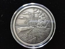 2015 Finding Silverbug Island 1 oz .999 Silver Coin Antique Proof, 2000 Mintage